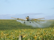 Aplicando inseticida na soja. Micronair AU 5000 Vz. 5 ltrs_1